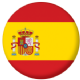 Spain Country Flag 25mm Keyring